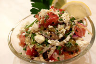 Feta Ziegenkäse salat Rezept griechischer balkan küche