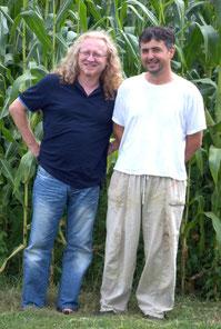 Fine Artists and Creatives Vlado Franjević and Franjo Matešin in summer 2009