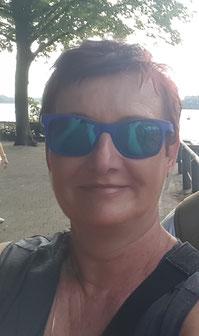 Autorin Susan Carner in Berlin, Tegeler See