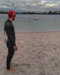 nageur combinaison lac eau libre