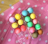 みんなで作った イースター・エッグ。 いろんな色の卵は こどもたち自身みたいに きれいでした。