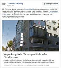 Unverpackt Luzern in Luzerner Zeitung