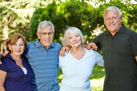 glückliche SeniorInnen im Burgenland
