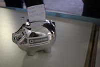 Ein Sparschwein sollte immer zur Hand sein, wenn man Spenden sammeln möchte