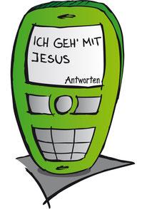 Handy Ich geh mit Jesus