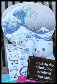 Tiere auf der Cebit: Kätzchen und Pandasticker - etwas Japan - lustige Karten von campushunter.de