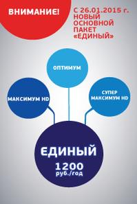 """Новый тарифный план Триколор ТВ """"Единый"""""""