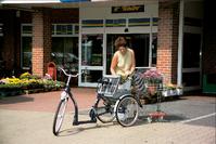 Zufriedene Kunden mit einem Dreirad