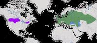 Karte zur Verbreitung des Rebhuhns (Perdix perdix)