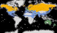 Karte zur Verbreitung der Gattung Aythya