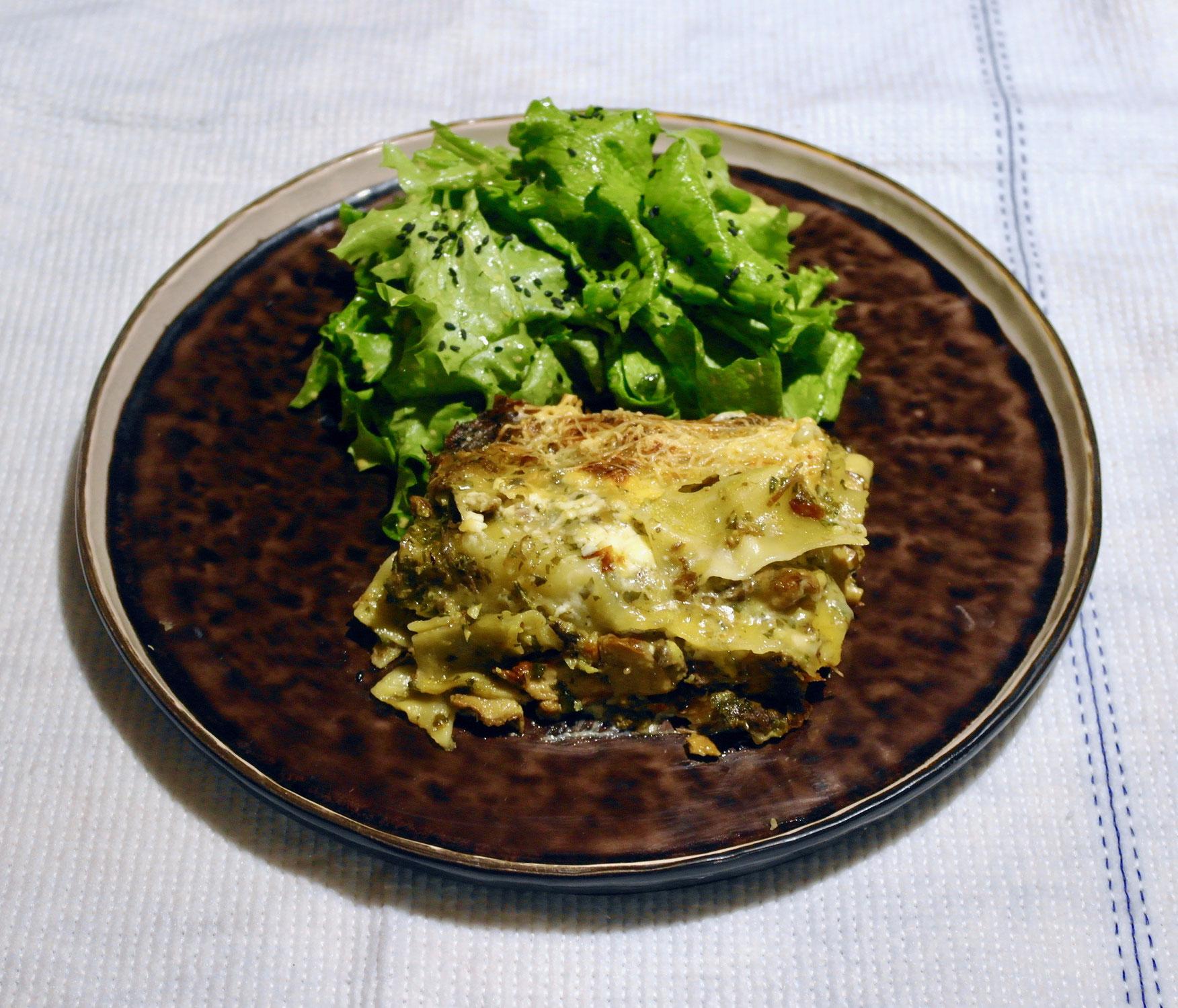 Les lasagnes aux cèpes