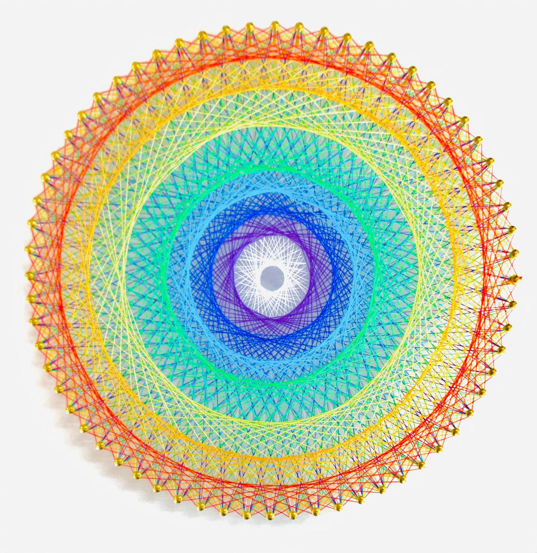 糸かけ曼荼羅の制作キット 64ピン