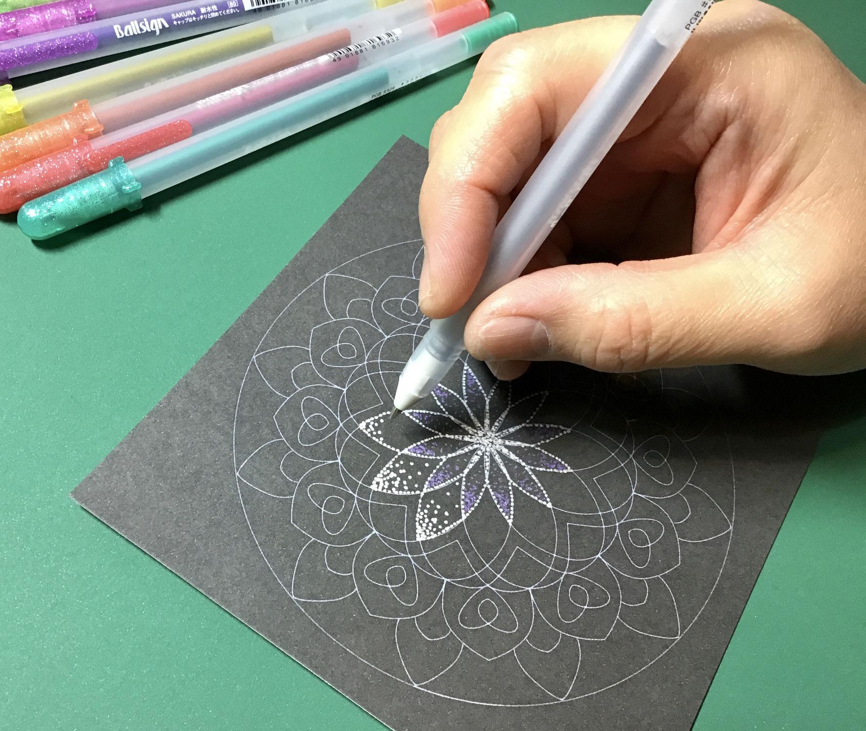 点描曼荼羅の制作キット