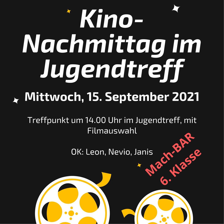 Kino-Nachmittag im Jugendtreff - Mach-BAR
