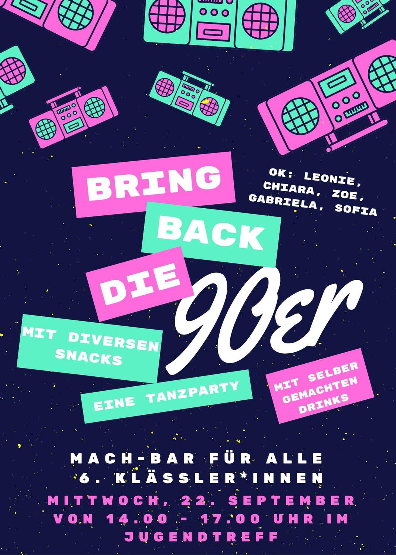 90er Party im Jugendtreff - Mach-BAR
