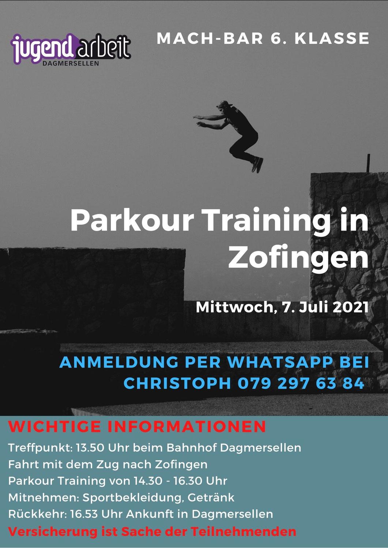 Parkour-Training - MachBAR/Ferien(s)pass