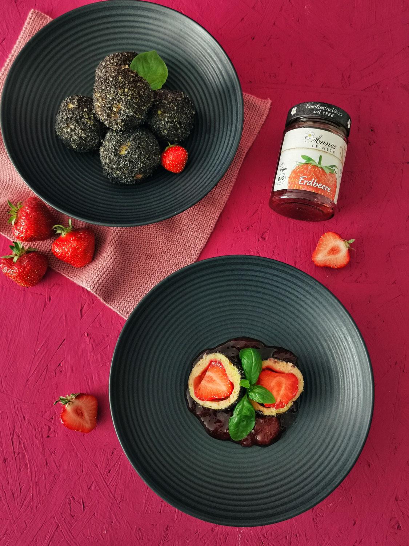 Erdbeer-Quark-Knödel