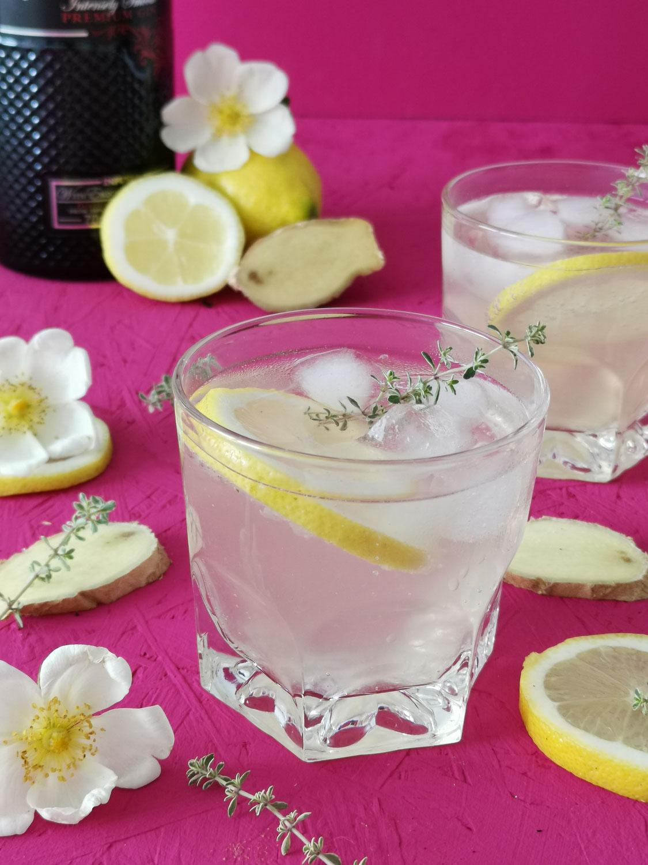 Ingwer Lemon Gin Fizz