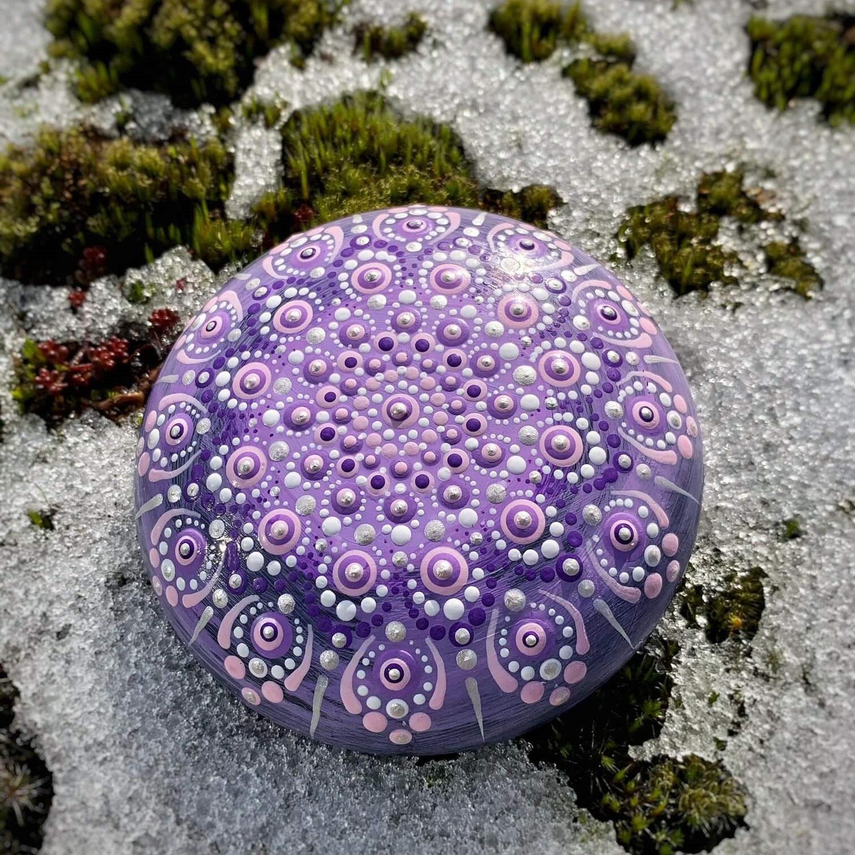Lavendel auf Eis