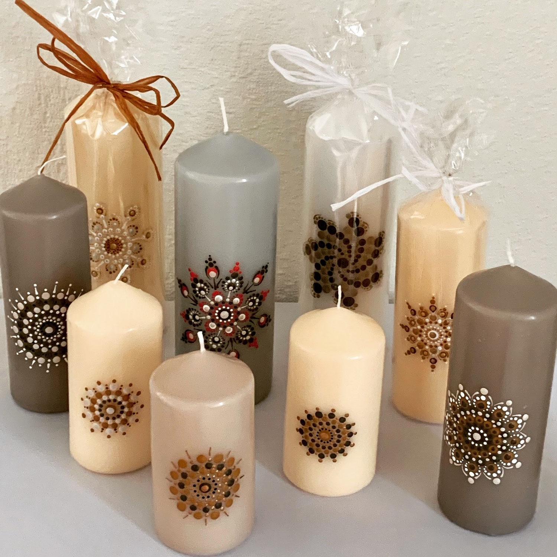 Kerze bemalen - jede Kerze ein Unikat