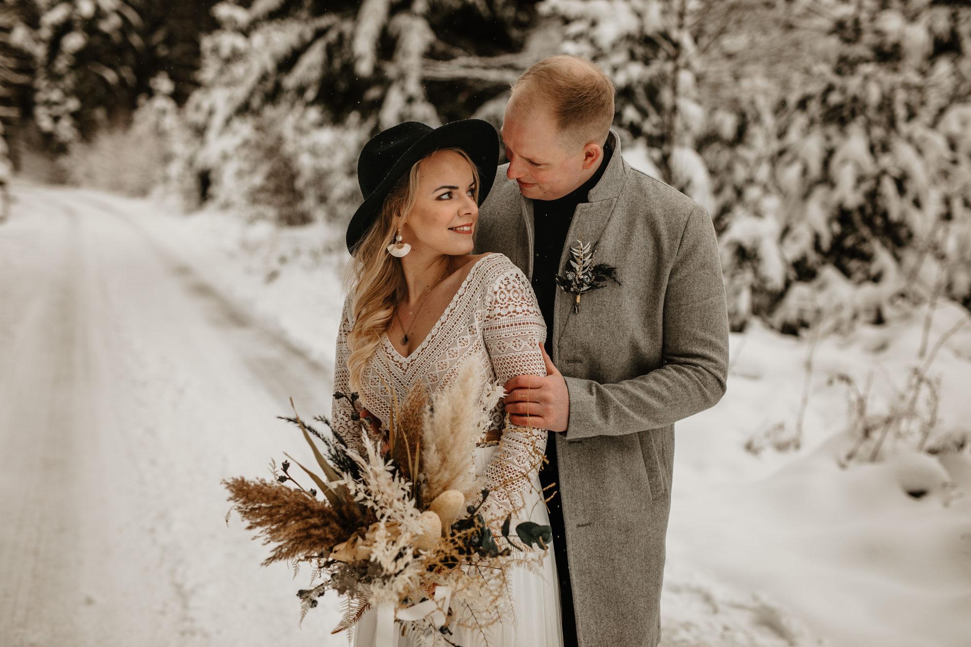 Boho-Winterwedding // Inspirationsshooting