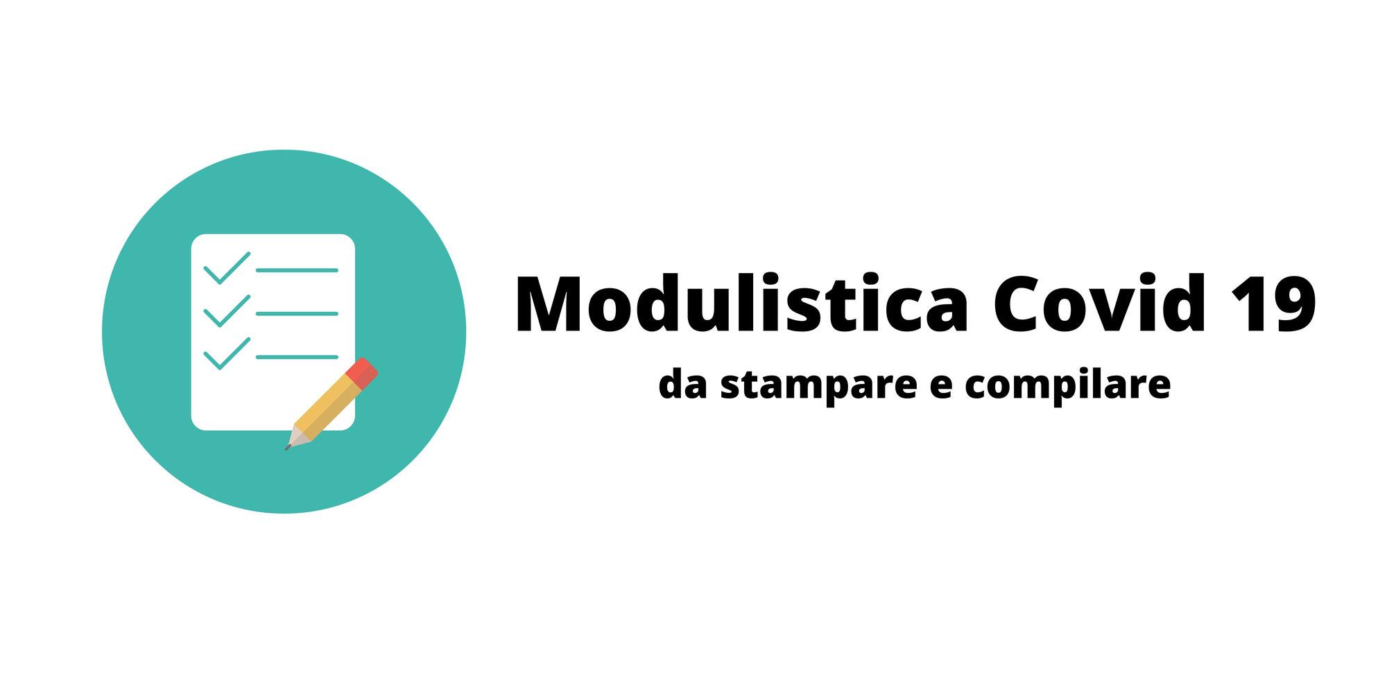 Modulistica Covid 19