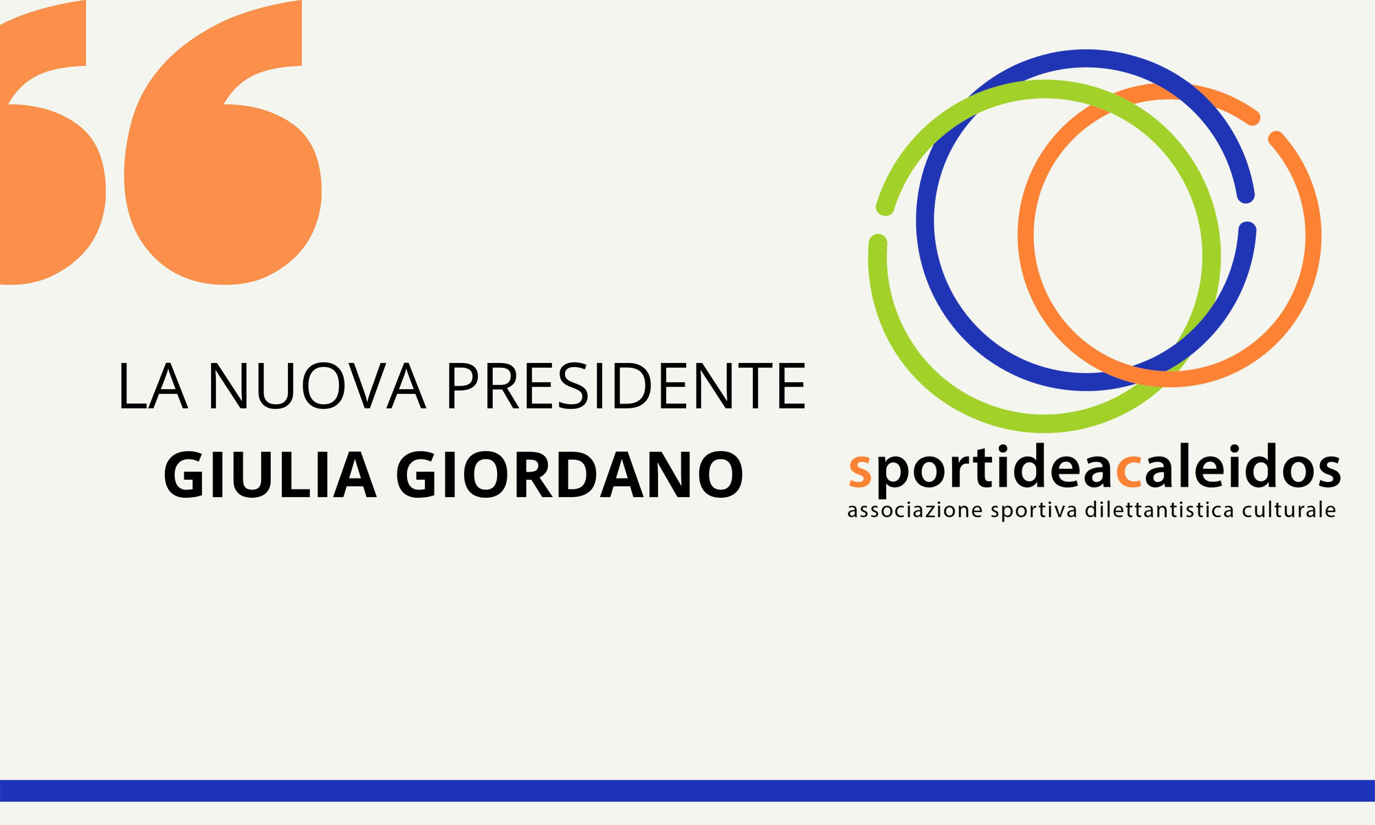 La nuova Presidente