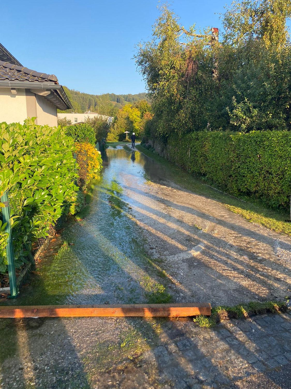 Massiver Wasserrohrbruch