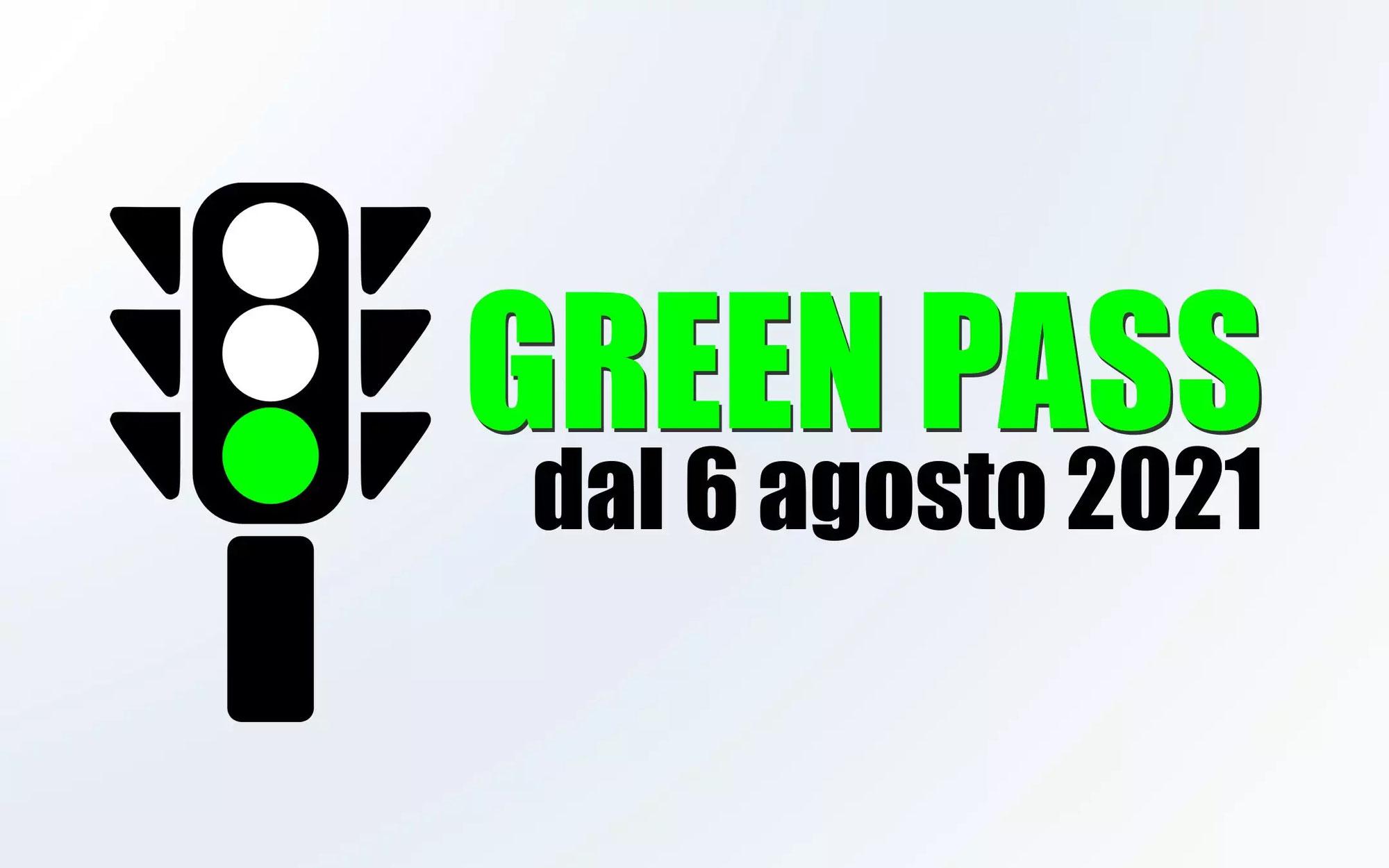 Nuove disposizioni: obbligo GreenPass dal 6 agosto