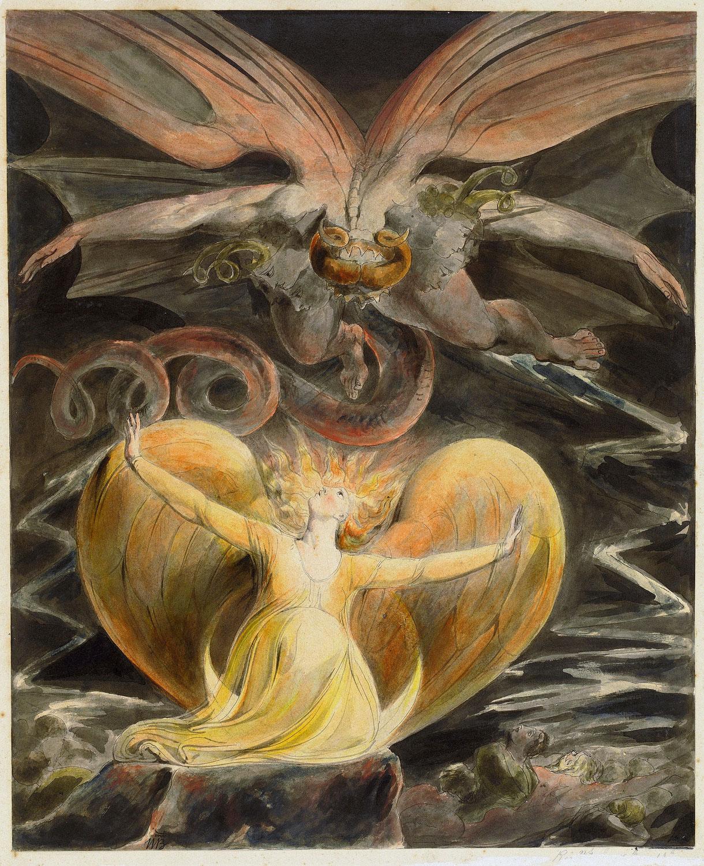 【作品解説】ウィリアム・ブレイク「グレート・レッド・ドラゴン」の絵画シリーズ」