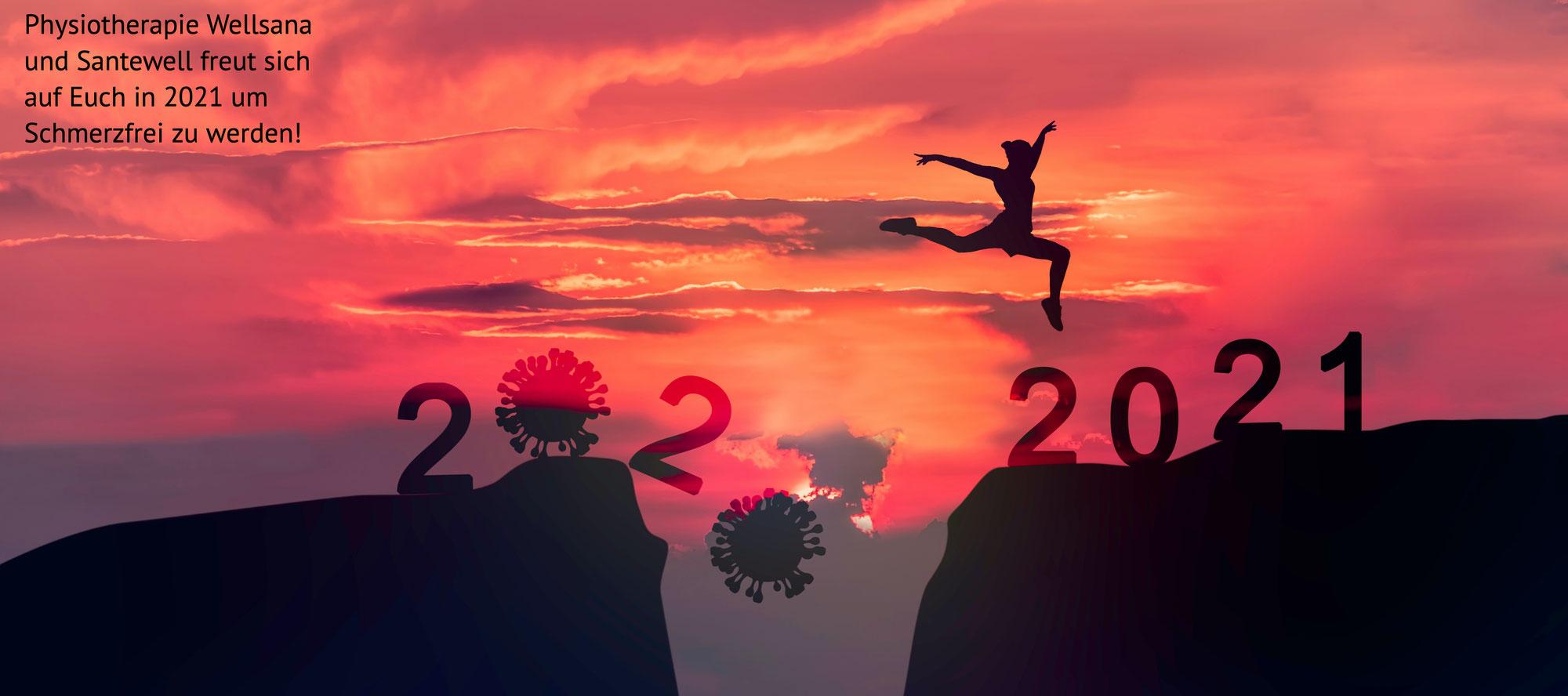 Wir freuen uns auf 2021, Schmerzfrei mit uns!