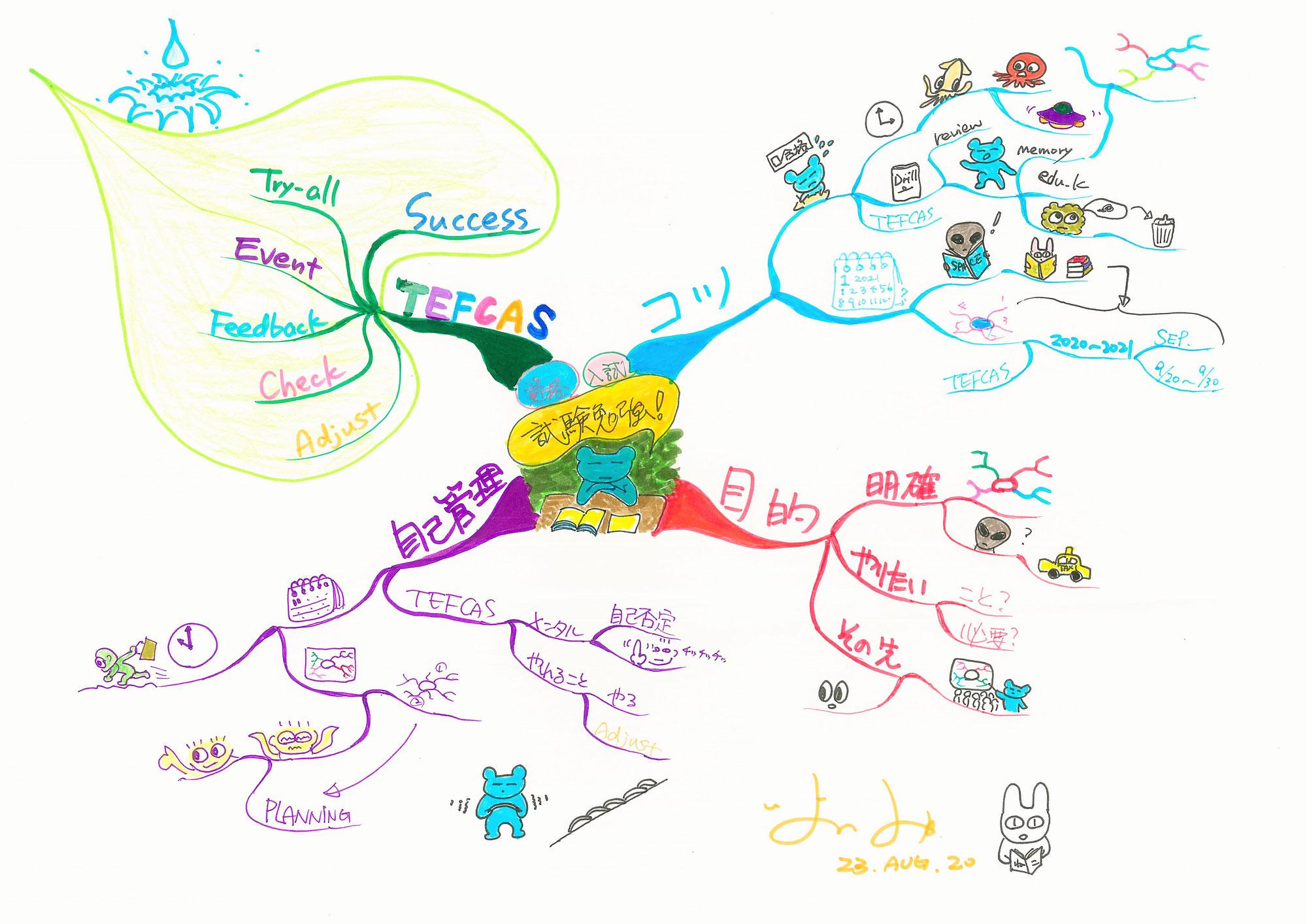 マインドマップの使い道として試験勉強に役立てる (T_T)