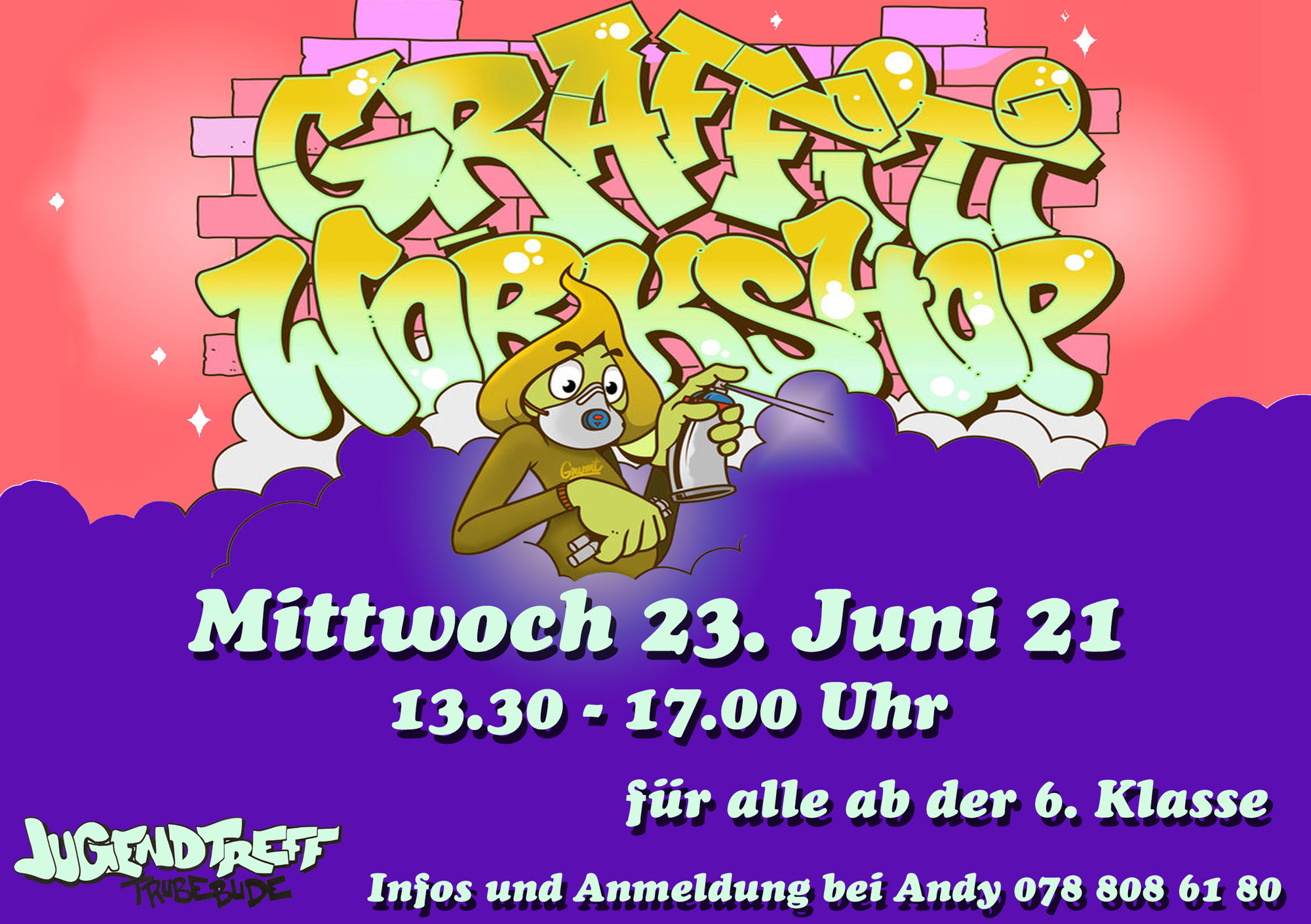 Graffitiworkshop mit Fabian am 23.6.