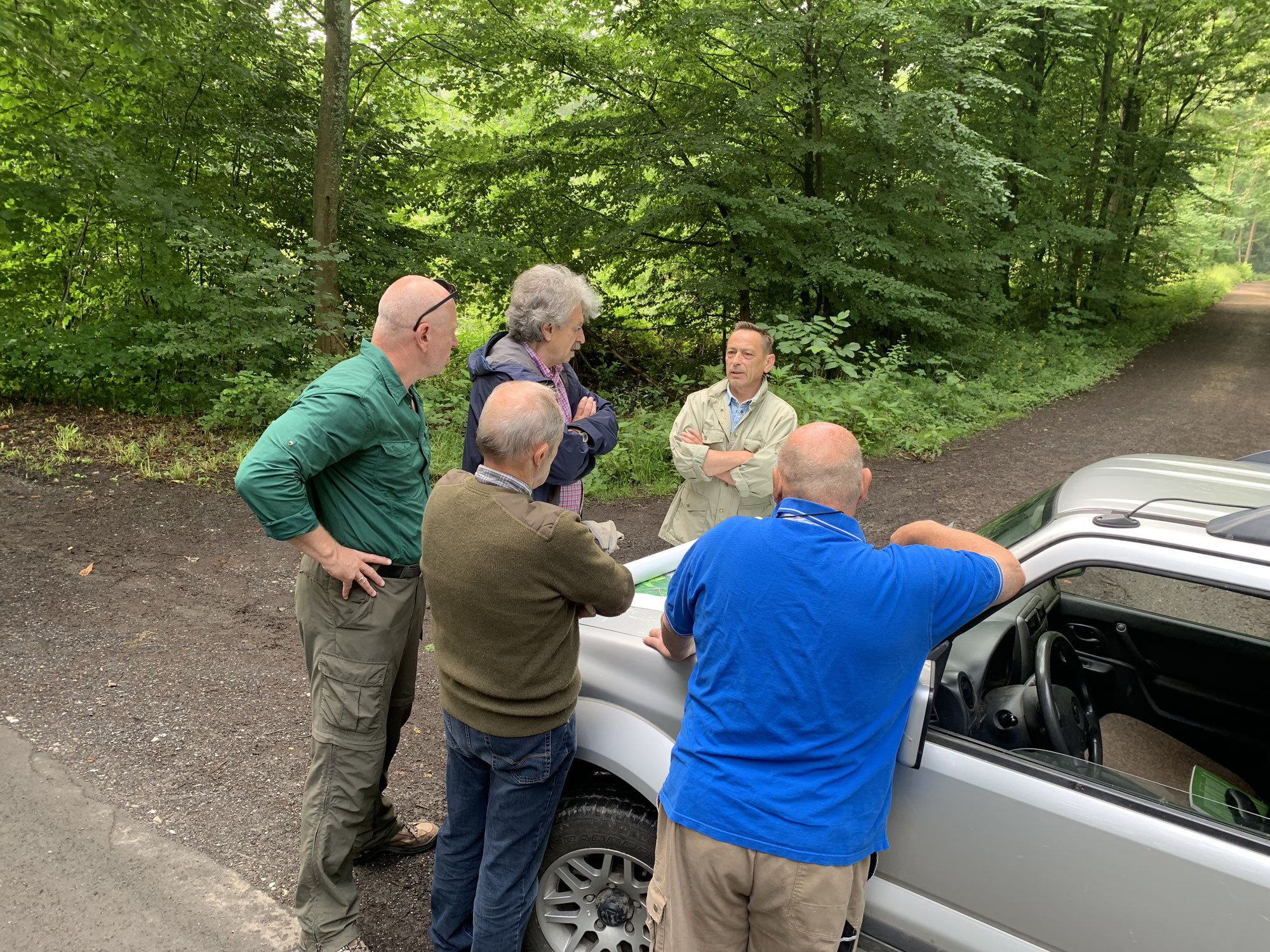 Begehung im Revier Krofdorf-Gleiberg mit Jagdpächter Dr. Rainer Hospes