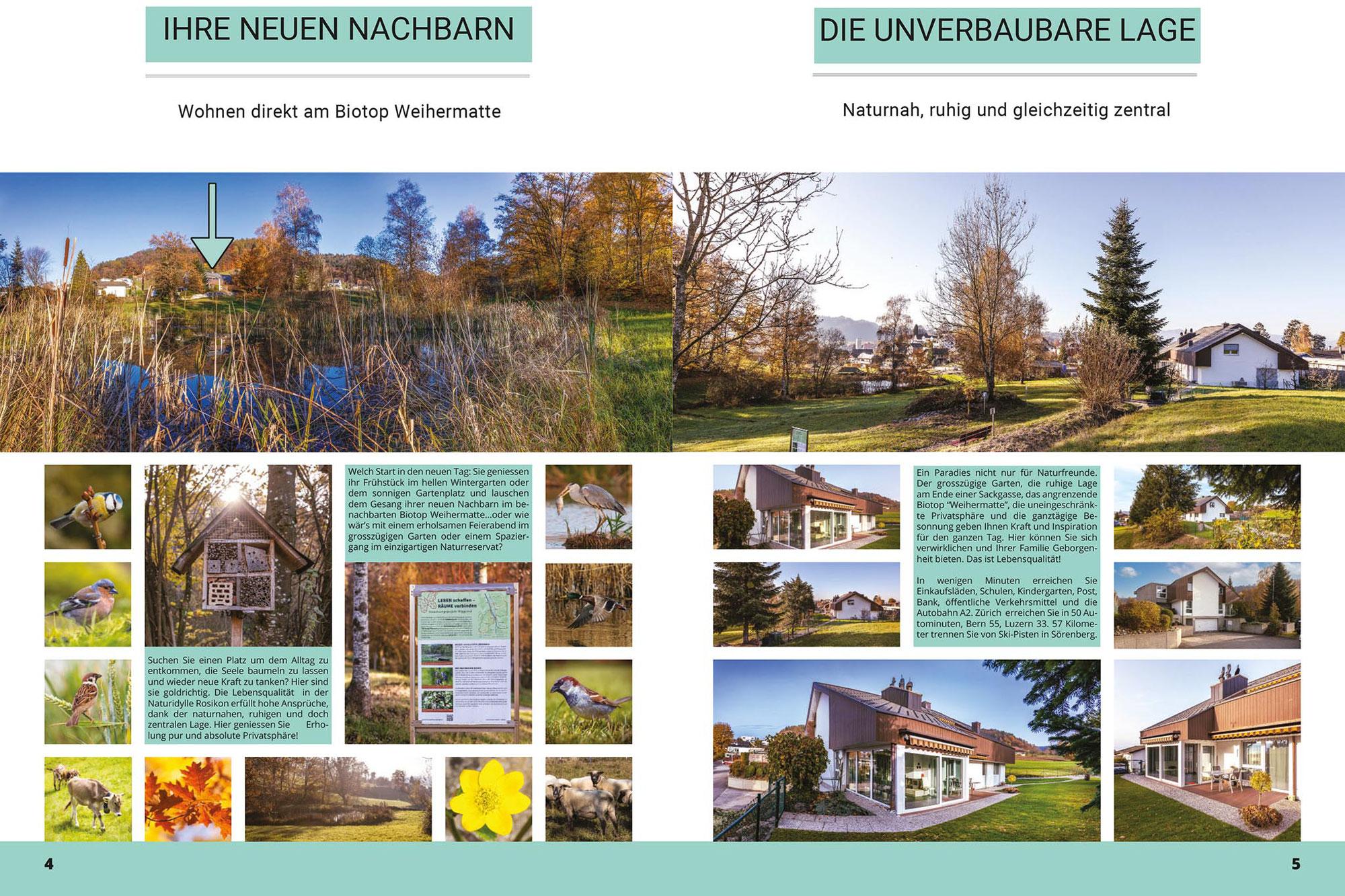 Immobilienbroschüre: Fotos & Design