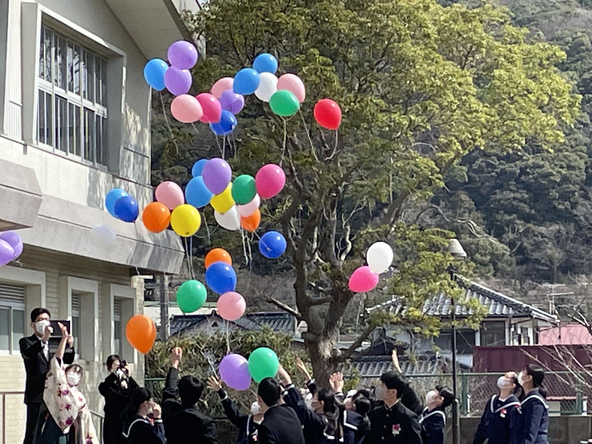 吉見中学校卒業式