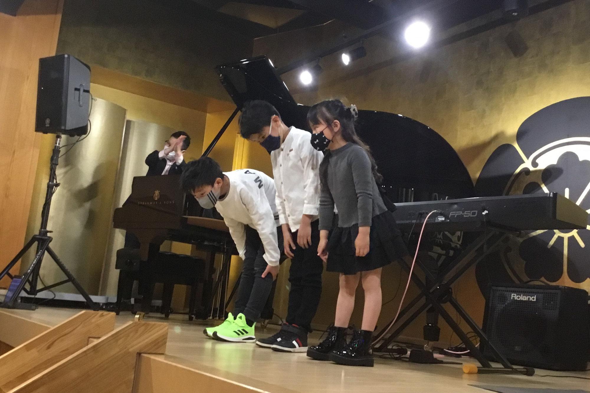 音楽教室あもーるミニ発表会2021(3月6日、13日)