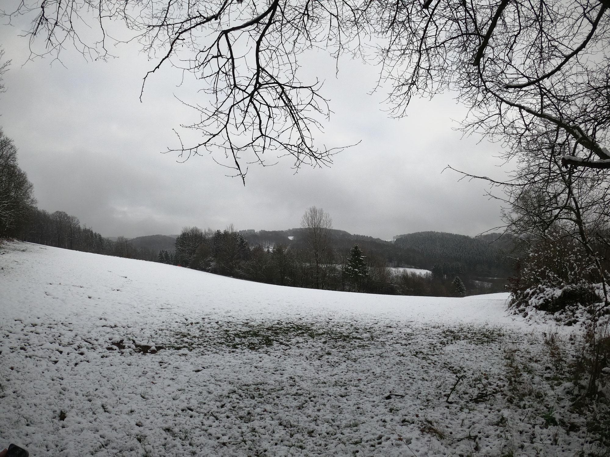 Schnee im Bergischen Land