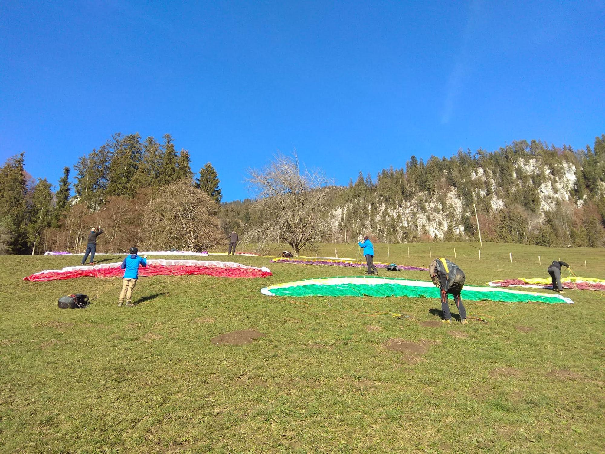 Gleitschirmfliegen lernen im Berner Oberland, Bern, Thun