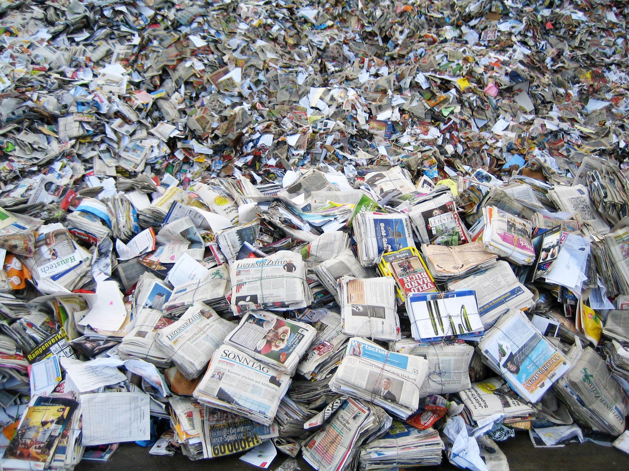 Lust und Last des Papier- und Kartonrecyclings