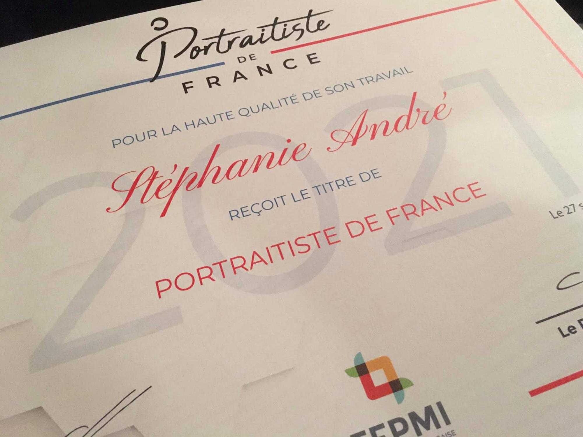 Stéphanie André : Portraitiste de France 2021 !