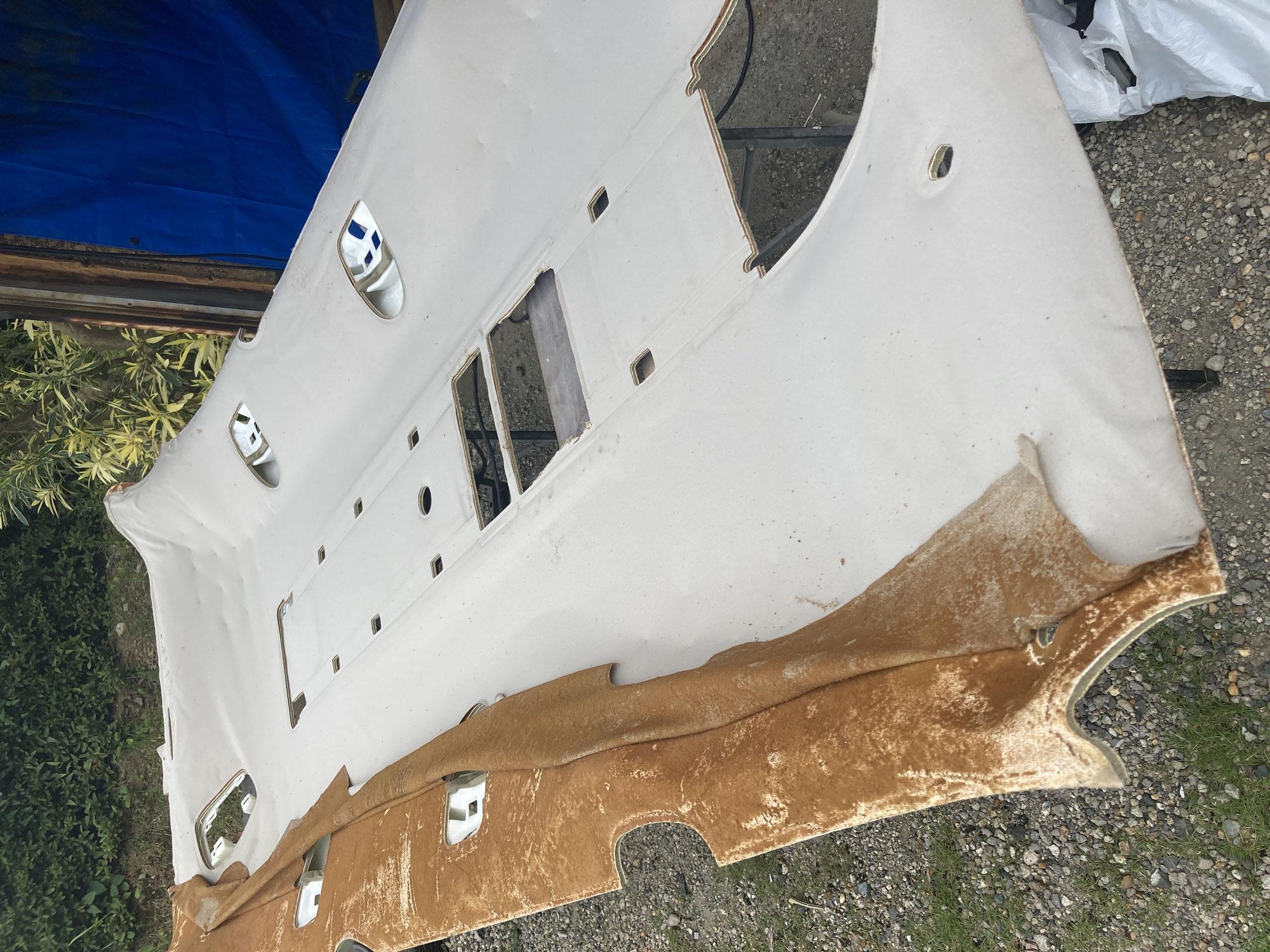 自動車の天井張替え修理