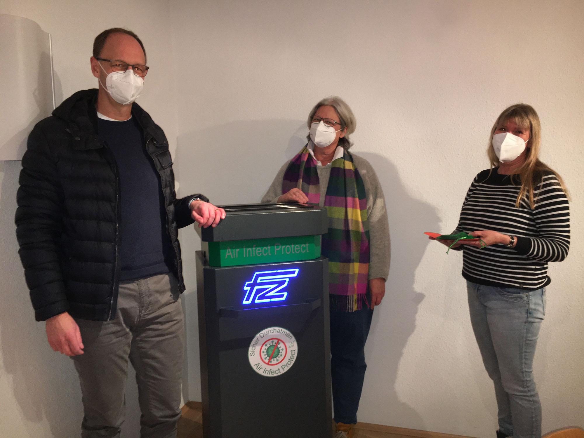 Air Infect Protect Luftreinigungsgerät als Spende (Text und Foto Uwe Goerlich)