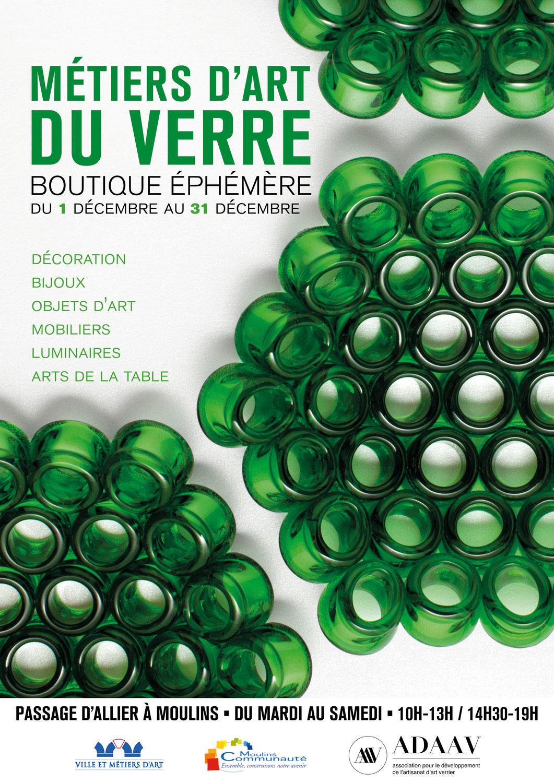 Métiers d'art du verre - Boutique Ephémère | du 1er au 31 décembre | Moulins