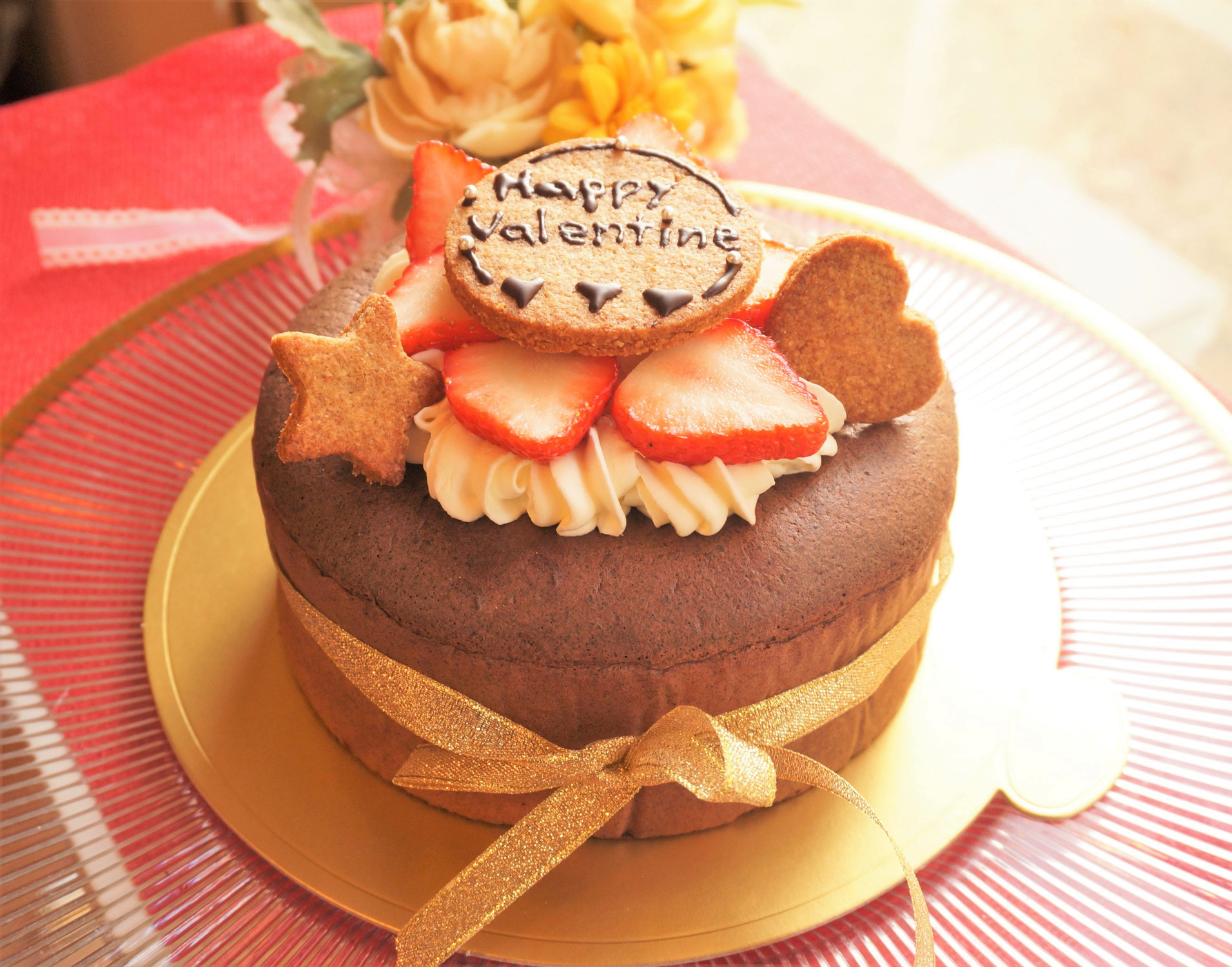 バレンタインレッスンのお菓子作り2月は「糖質95%オフ!ガトーショコラ」低糖質スイーツ作り