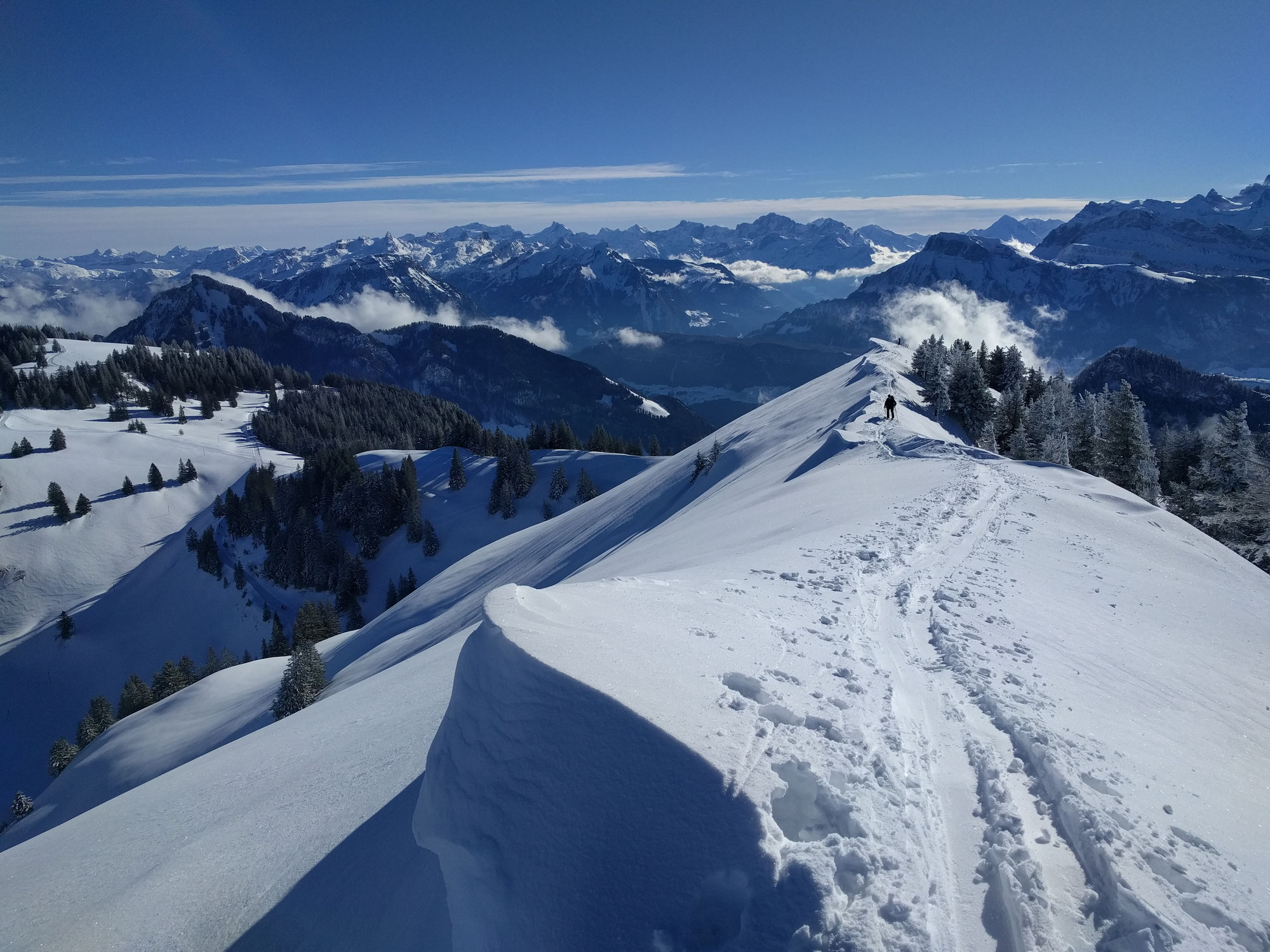 Traumhafte Skitour auf die Rigi