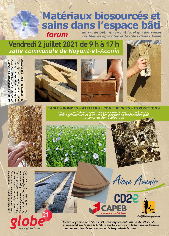 Forum des matériaux biosourcés et sains dans l'espace bâti