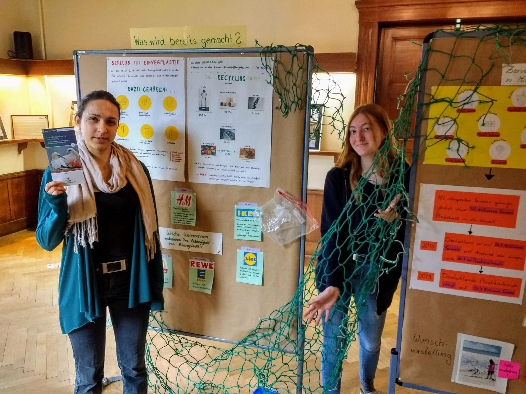 Sonderausstellung Plastikmüll im Meer im Haus der Natur Wulfsdorf