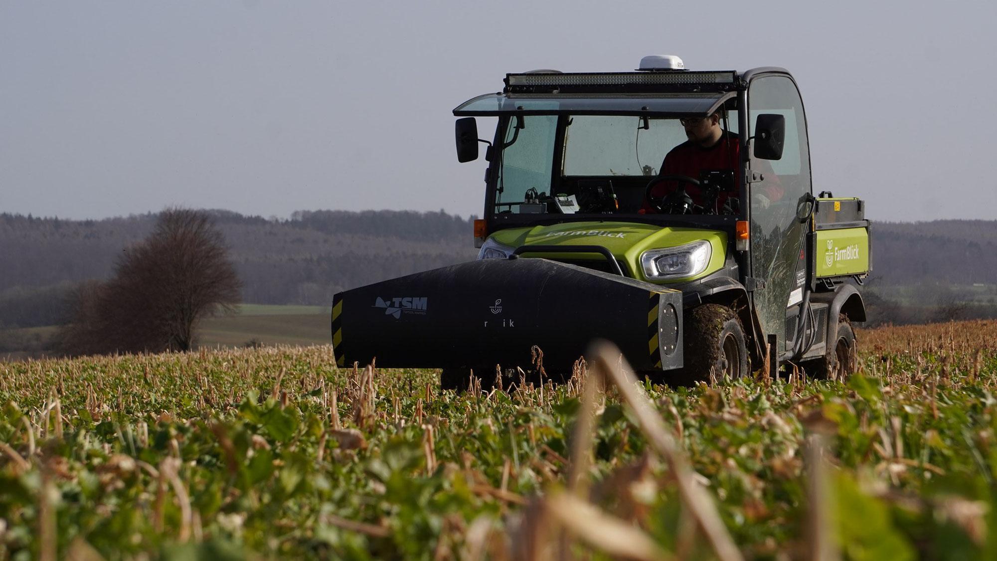 Handfeste Werte bei der Mais-Aussaat dank Farmblick