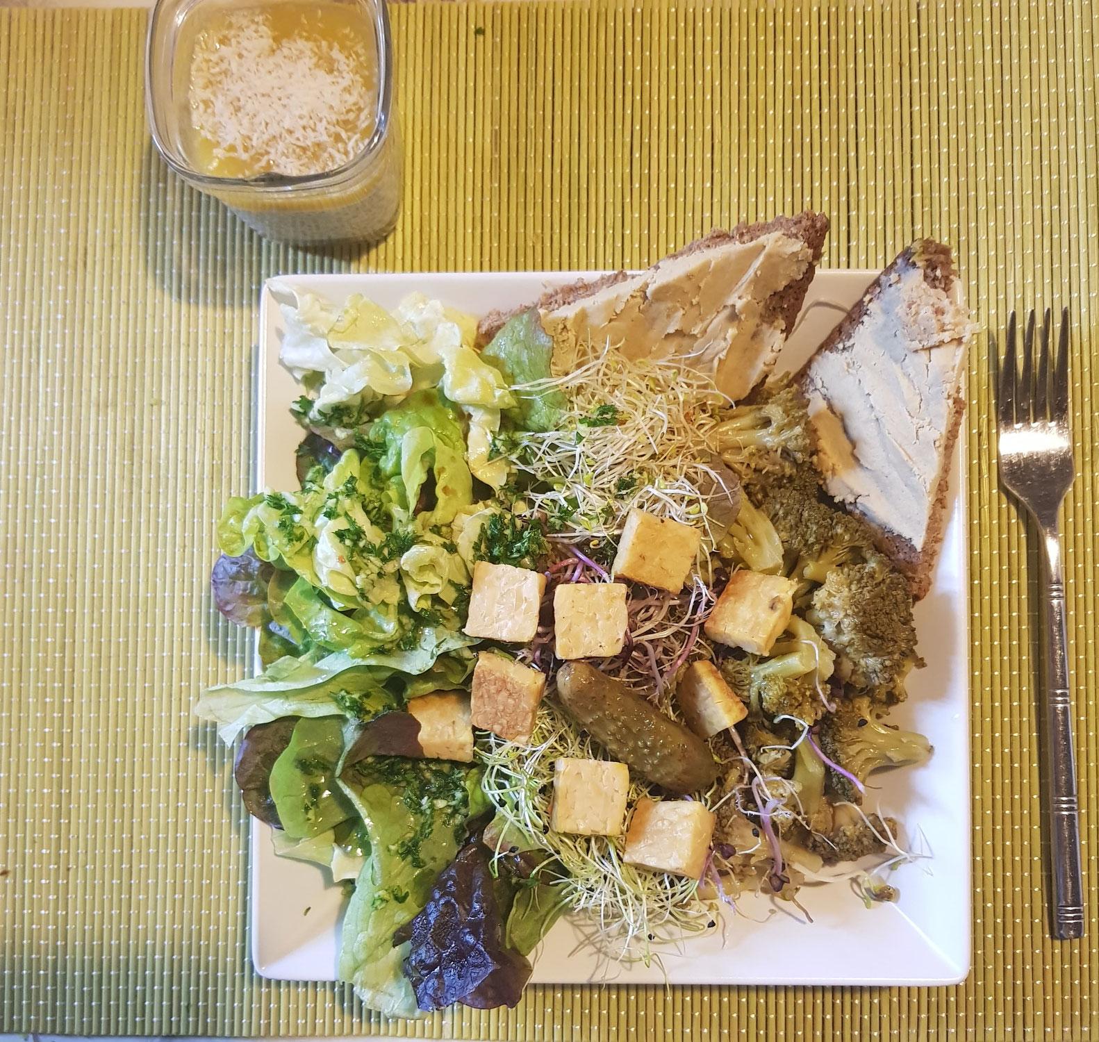 Salade Brocoli  toasts